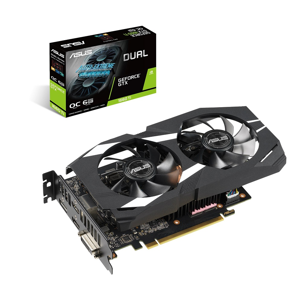 ASUS エイスース グラフィックボード DUAL-GTX1660TI-O6G [NVIDIA GeForce GTX 1660 Ti / 6GB]