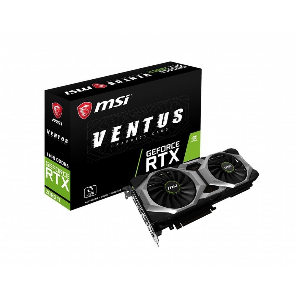MSI エムエスアイ グラフィックボード GeForce RTX 2080 Ti VENTUS 11G OC [NVIDIA GeForce RTX 2080 TI / 11GB]