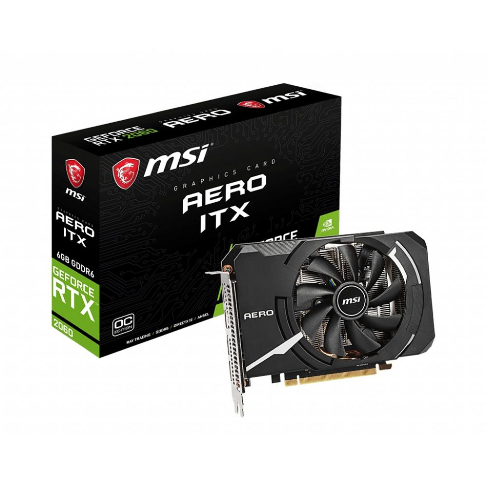 MSI エムエスアイ グラフィックボード GeForce RTX 2060 AERO ITX 6G OC [NVIDIA GeForce RTX 2060 / 6GB]