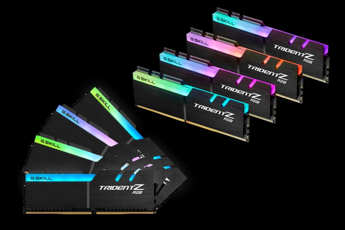 【新品 未使用 訳あり アウトレット】G.SKILL ゲーミング メモリ Trident Z RGB (For AMD) F4-2933C16Q2-64GTZRX [PC4-23400 / DDR4 2933 / CL 16-16-16-36 / 8GB x8枚組 64GBキット] [保証:通常保証] [管理:WH001:9]