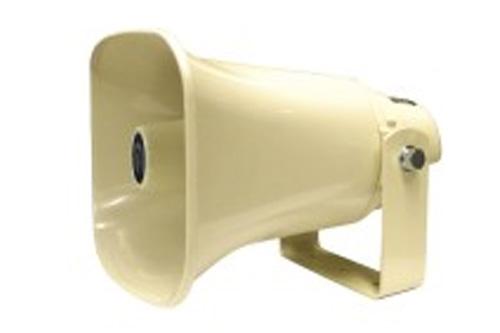 トランス内蔵型樹脂製ホーンスピーカ NOBORU(ノボル電機製作所)NP-415拡声用音響装置