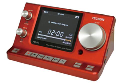 TECSUNHD-80-R(レッド)Hi-Fiデジタルオーディオプレーヤー