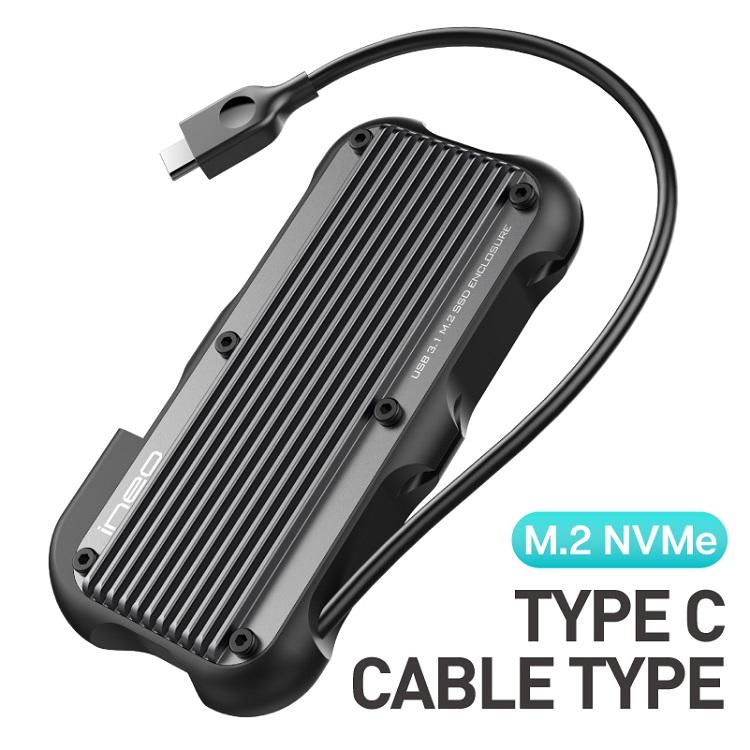 《在庫あり》ineo 防塵/防滴/耐衝撃仕様 USB-C M.2 NVMe SSD 2TB [C2594-I 2TB]