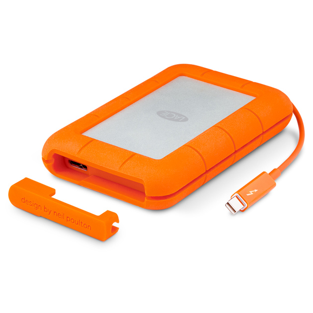 《在庫あり》Lacie(ラシー) Rugged Thunderbolt+USB3.0 2TB [STEV2000400]