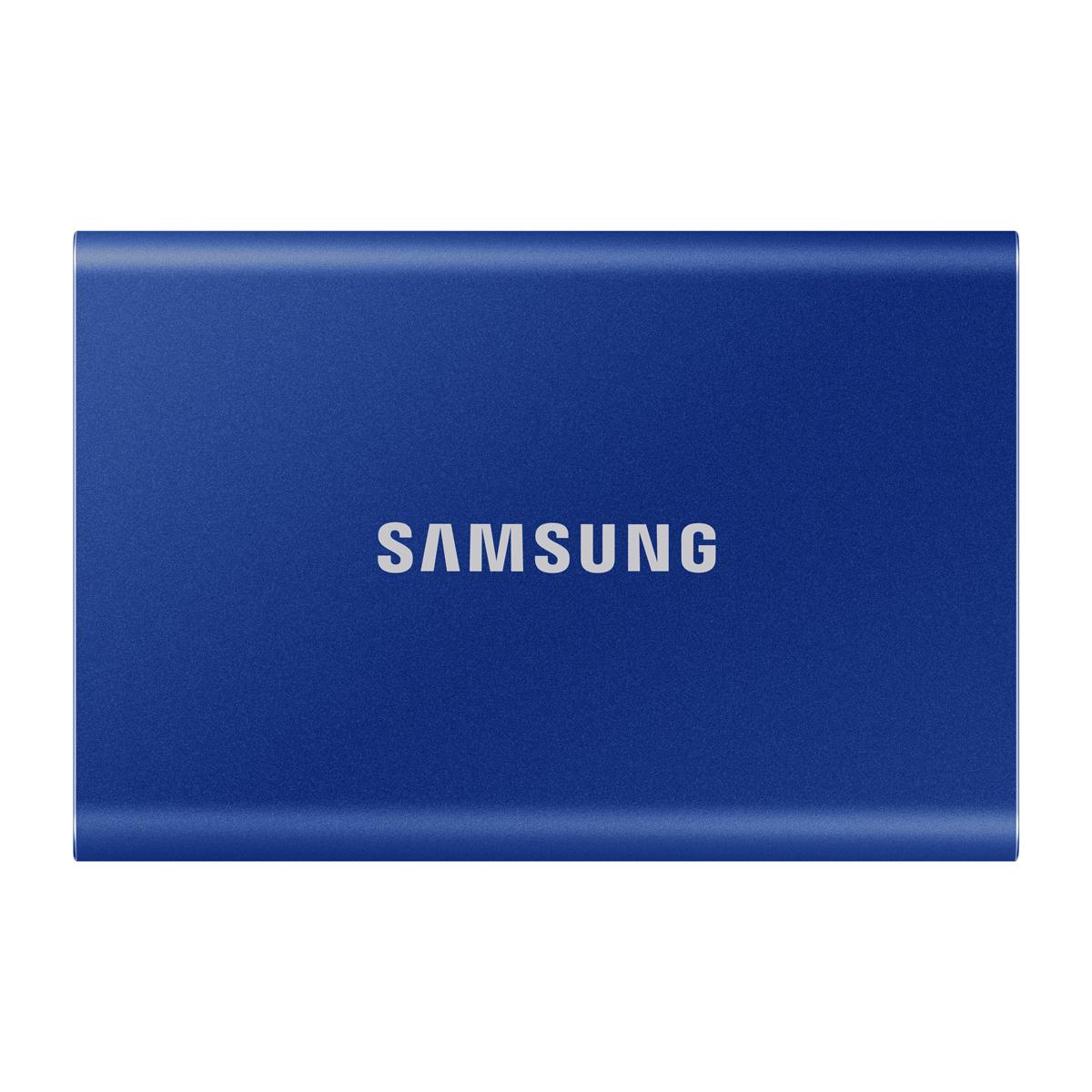 《在庫あり》SAMSUNG(サムスン)Portable SSD T7 500GB インディゴブルー [MU-PC500H/IT]