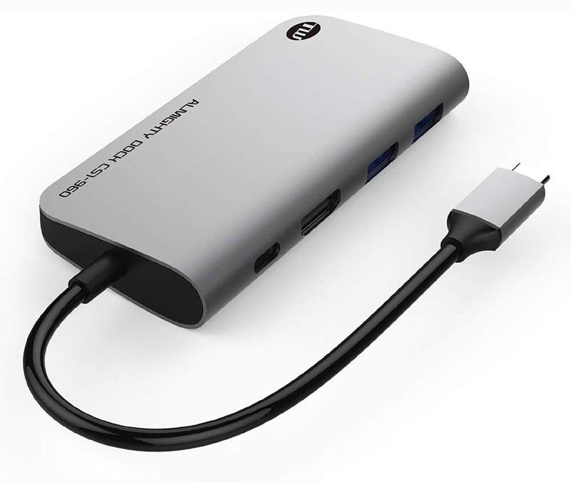 《在庫あり》TUNEWEAR ALMIGHTY DOCK CS1 USB-Cハブ+外部SSDストレージ スペースグレイ 480GB [TUN-OT-000063]