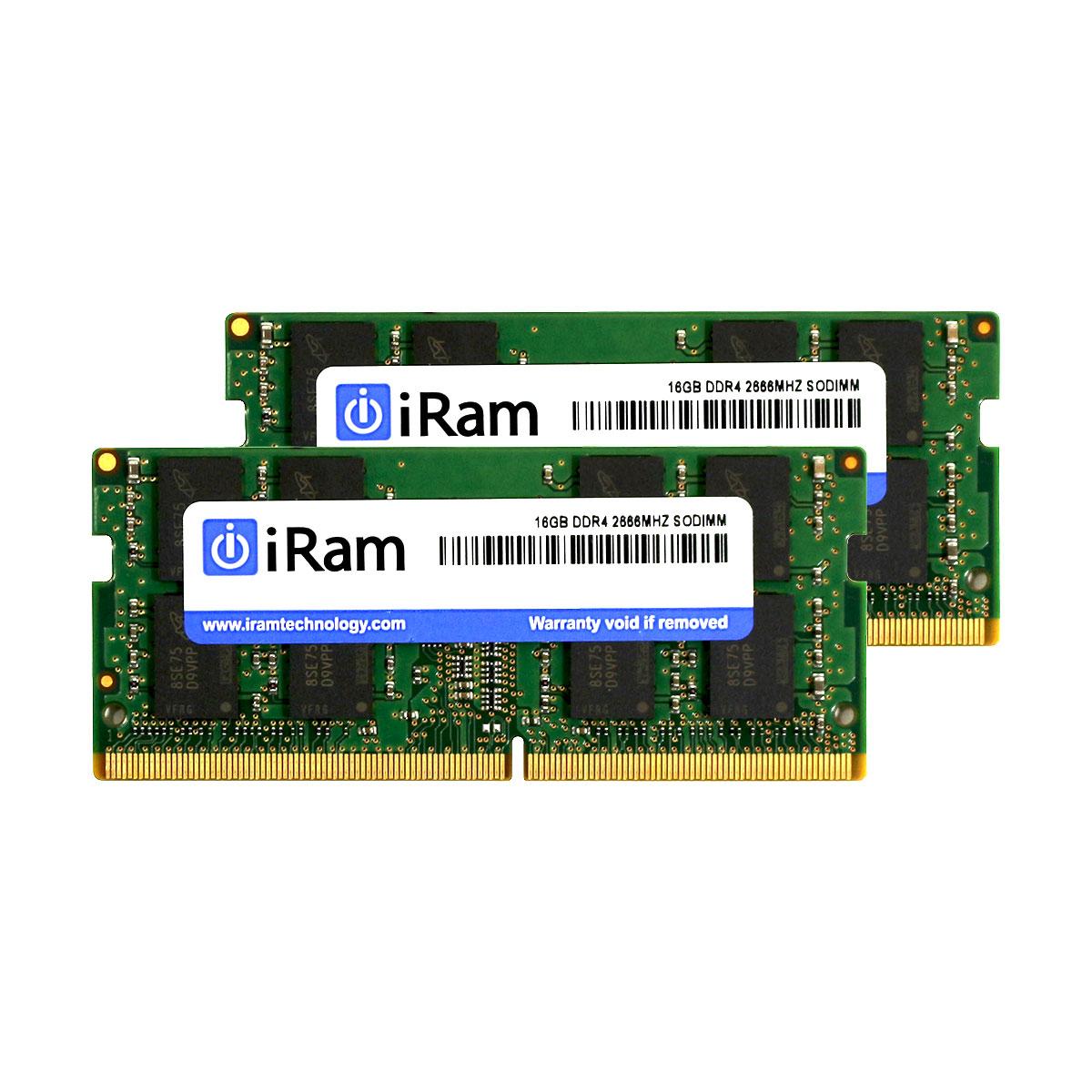 《メーカー在庫あり》iRam 260Pin DDR4 SO-DIMM 2666MHz 64GB(32GBx2) [260-2666-32768-IR] [260-2666-32768-IR]