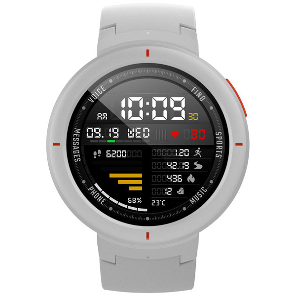 HUAMI 【日本正規品】スマートウォッチ Amazfit Verge HMI-AFV01WH ブームライトホワイト (HMIAFV01WH)