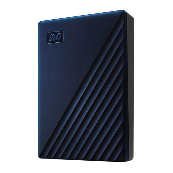 【新品】Western Digital(ウエスタンデジタル) WDBA2F0040BBL-JESN USB-C & USB-A対応 Mac用ポータブルHDD WD My Passport for Mac 4TB ブルー (WDBA2F0040BBLJESN) [振込不可]