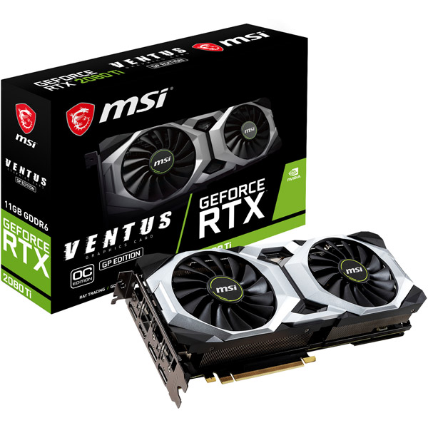 MSI(エムエスアイ) グラフィックボード GeForce RTX 2080 Ti VENTUS GP OC [11GB /GeForce RTXシリーズ] (GEFORCERTX2080TIVENT)
