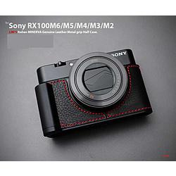 LIMS メタルグリップ 本革 カメラハーフケース ブラック LE-MHCRX100BK1 LEMHCRX100BK1