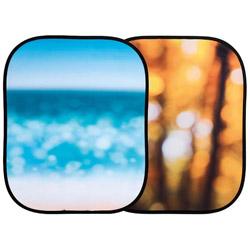ラストライト アウトオブフォーカス1.25x1.55m秋の葉/海辺 LLLB5731 LLLB5731
