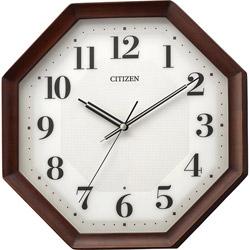 シチズン 電波掛け時計 8MY555-006 茶色半艶仕上(白) 8MY555006