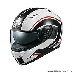 オージーケーカブト 584856 フルフェイスヘルメット KAMUI 3 KNACK XS ホワイトブラック 584856