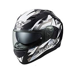 オージーケーカブト 587321 フルフェイスヘルメット KAMUI 3 STARS フラットブラックシルバー M 587321