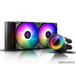 DEEPCOOL CASTLE 240RGB V2 DP-GS-H12AR-CSL240V2 (水冷一体型CPUクーラー/240mmモデル/500~1800rpm) DPGSH12ARCSL240V2