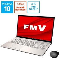 FUJITSU(富士通) ノートパソコン LIFEBOOK NH90/E2 シャンパンゴールド FMVN90E2G [17.3型 /intel Core i7 /HDD:1TB /Optane:16GB /SSD:256GB /メモリ:8GB /2020年6月モデル] FMVN90E2G
