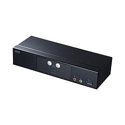 SANWA SUPPLY(サンワサプライ) パソコン自動切替器(2:1) DisplayPort対応 SW-KVM2HDPU [2入力 /1出力 /自動 /4K対応] SWKVM2HDPU