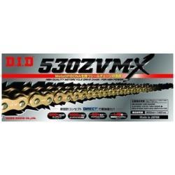 大同工業 バイク用チェーン カラー:GOLD ZJ(カシメタイプ) 530ZVM-X-120L 530ZVMX120L