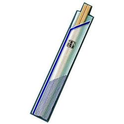 ツボイ 割箸袋入 ピース紺 白樺元禄 20.5cm (1ケース100膳×40入) <XHS99> XHS99