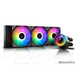 DEEPCOOL CASTLE 360RGB V2 DP-GS-H12AR-CSL360V2 (水冷一体型CPUクーラー/360mmモデル/500~1800rpm) DPGSH12ARCSL360V2