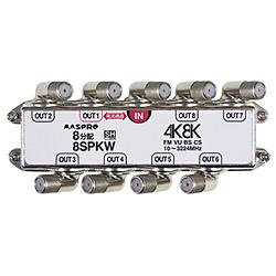 マスプロアンテナ 端子可動型8分配器(3224Mhz対応・1端子電流通貨型) 8SPKW 8SPKW