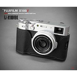 LIMS 富士フイルム X100V用本革カメラハーフケース ブラック  FJ-X100VBK FJX100VBK