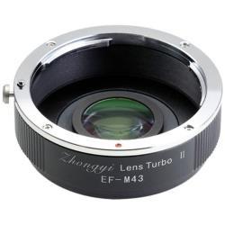 中一光学 LensTurboII EF-m43 フォーカルレデューサーレンズ搭載マウントアダプター Lens TurboII EF-m43 LENSTURBO2EFM43
