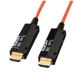 【在庫限り】 SANWA SUPPLY(サンワサプライ) KM-HD20-FB20 HDMIケーブル コネクタ:ブラック、コード:オレンジ [20m /HDMI⇔HDMI /イーサネット対応] KMHD20FB20