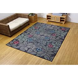 イケヒコ 純国産い草ラグ DXなでしこBL 約191×250cm(裏:不織布) 1706130