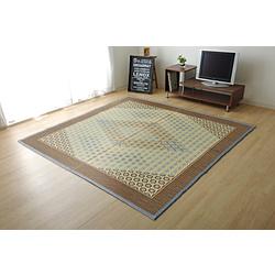 イケヒコ 純国産い草ラグ DX組子GY 約191×250cm (裏:不織布) 1715380