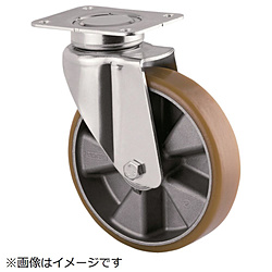 テンテキャスター テンテキャスター 重荷重用高性能旋回キャスター(ウレタン車輪・メンテナンスフリー) 3640ITP125P63CONVEX