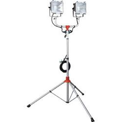 ハタヤリミテッド 防雨型スタンド付ハロゲンライト 500W×2灯 100V接地付電線5m PHCX505KN PHCX505KN