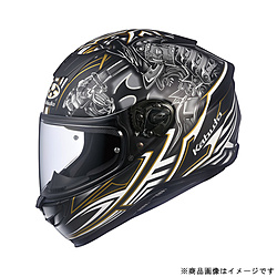 オージーケーカブト 584122 フルフェイスヘルメット AEROBLADE-5 SAMURAI XS フラットブラック 584122