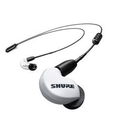 SHURE(シュア) SE215SPE-W+BT2-A ホワイト【リモコン・マイク対応】ブルートゥースイヤホン 耳かけカナル型  SE215SPEW+BT2A