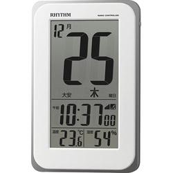 セール特別価格 リズム時計 目覚まし時計 フィットウェーブカレンダーD139 白 デジタル 2020 8RZ139SR03 電波自動受信機能有