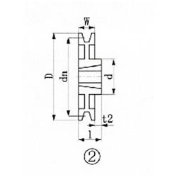 エバオン ブッシングプーリー SPB 280mm 溝数1 SPB2801 SPB2801