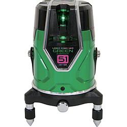 シンワ測定 シンワ レーザーロボグリーンNeoESensor51縦横大矩通り芯×2・地墨 71605