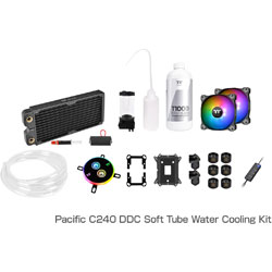 Thermaltake Pacific C240 DDC Soft Tube Water Cooling Kit CL-W249-CU12SW-A (C240ラジエーターモデル) CLW249CU12SWA