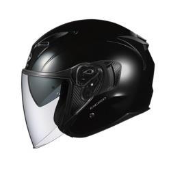 オージーケーカブト EXCEED オープンフェイスヘルメット ブラックメタリック Lサイズ(59-60cm) EXCEEDBML