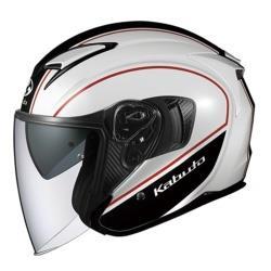 オージーケーカブト EXCEED ELIE オープンフェイスヘルメット ホワイトブラック Lサイズ(59-60cm) EXCEEDDELIEWHBL