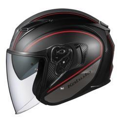 オージーケーカブト EXCEED ELIE オープンフェイスヘルメット フラットブラックグレー XLサイズ(60-61cm) EXCEEDDELIEFBGRXL