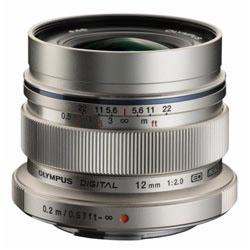 【日本製】 OLYMPUS(オリンパス) カメラレンズ M.ZUIKO DIGITAL ED 12mm F2.0【マイクロフォーサーズマウント】(シルバー) ED12MMF2.0, kousen 492cb00c