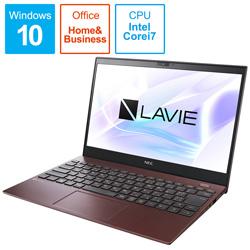 NEC(エヌイーシー) ノートパソコン LAVIE ProMobile クラシックボルドー PC-PM750SAR [13.3型 /intel Core i7 /SSD:512GB /メモリ:8GB /2020年夏モデル]