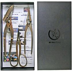 金鹿工具製作所 MIMATSU 金属折り紙ツールセット #800 ファクトリーアウトレット ストアー ブロンズ仕上げ