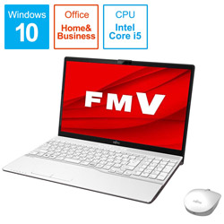 FUJITSU(富士通) ノートパソコン FMVA52D3WB プレミアムホワイト [15.6型 /intel Core i5 /Optane:32GB /SSD:512GB /メモリ:8GB /2020年1月モデル] FMVA52D3WB [振込不可]