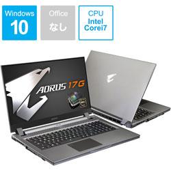 GIGABYTE(ギガバイト) SB-7JP1130MH ゲーミングノートパソコン AORUS 17G [17.3型 /intel Core i7 /SSD:512GB /メモリ:16GB /2020年5月モデル] AORUS17GSB7JP1130MH