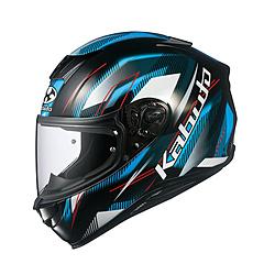 オージーケーカブト 8703 フルフェイスヘルメット AEROBLADE-5 GO ブラックライトブルー M 8703