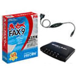 インターコム 〔Win版〕 まいと~く FAX 9 Pro モデムパック(USB変換ケーブル付き) マイトークFAX9PROモデム