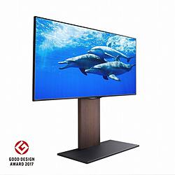 ナカムラ 32~60V型対応 壁寄せテレビスタンド WALL ウォール V2 ロータイプ ウォールナット D05000011 D05000011